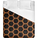 HEXAGON2 BLACK MARBLE & RUSTED METAL (R) Duvet Cover (California King Size) View1