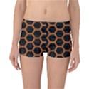 HEXAGON2 BLACK MARBLE & RUSTED METAL (R) Reversible Boyleg Bikini Bottoms View1