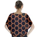 HEXAGON2 BLACK MARBLE & RUSTED METAL (R) Blouse View2