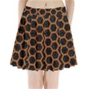 HEXAGON2 BLACK MARBLE & RUSTED METAL (R) Pleated Mini Skirt View1