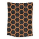 HEXAGON2 BLACK MARBLE & RUSTED METAL (R) Medium Tapestry View1