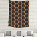 HEXAGON2 BLACK MARBLE & RUSTED METAL (R) Medium Tapestry View2