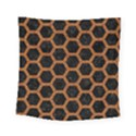 HEXAGON2 BLACK MARBLE & RUSTED METAL (R) Square Tapestry (Small) View1