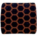 HEXAGON2 BLACK MARBLE & RUSTED METAL (R) Back Support Cushion View1