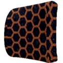 HEXAGON2 BLACK MARBLE & RUSTED METAL (R) Back Support Cushion View3