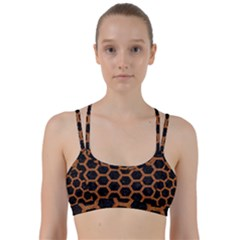 Hexagon2 Black Marble & Rusted Metal (r) Line Them Up Sports Bra
