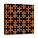 PUZZLE1 BLACK MARBLE & RUSTED METAL Mini Canvas 8  x 8  View1