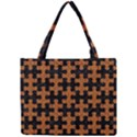 PUZZLE1 BLACK MARBLE & RUSTED METAL Mini Tote Bag View1