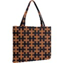 PUZZLE1 BLACK MARBLE & RUSTED METAL Mini Tote Bag View2