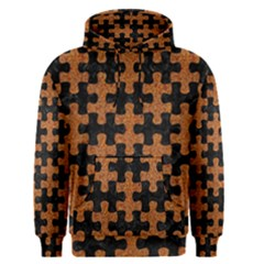 Puzzle1 Black Marble & Rusted Metal Men s Pullover Hoodie