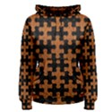 PUZZLE1 BLACK MARBLE & RUSTED METAL Women s Pullover Hoodie View1