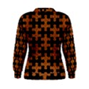 PUZZLE1 BLACK MARBLE & RUSTED METAL Women s Sweatshirt View2