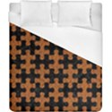PUZZLE1 BLACK MARBLE & RUSTED METAL Duvet Cover (California King Size) View1
