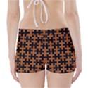 PUZZLE1 BLACK MARBLE & RUSTED METAL Boyleg Bikini Wrap Bottoms View2