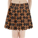 PUZZLE1 BLACK MARBLE & RUSTED METAL Pleated Mini Skirt View1