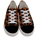 PUZZLE1 BLACK MARBLE & RUSTED METAL Women s Low Top Canvas Sneakers View1