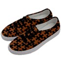 PUZZLE1 BLACK MARBLE & RUSTED METAL Men s Classic Low Top Sneakers View2
