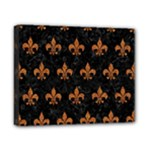 ROYAL1 BLACK MARBLE & RUSTED METAL Canvas 10  x 8
