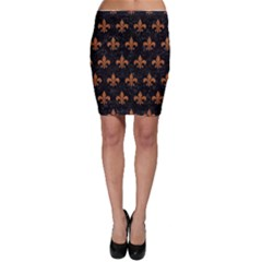 ROYAL1 BLACK MARBLE & RUSTED METAL Bodycon Skirt