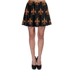 ROYAL1 BLACK MARBLE & RUSTED METAL Skater Skirt