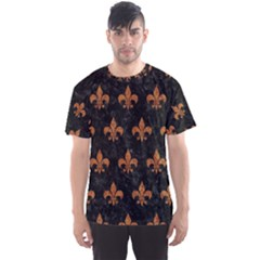 ROYAL1 BLACK MARBLE & RUSTED METAL Men s Sports Mesh Tee