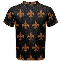 ROYAL1 BLACK MARBLE & RUSTED METAL Men s Cotton Tee