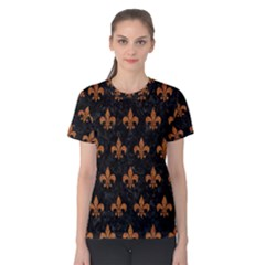ROYAL1 BLACK MARBLE & RUSTED METAL Women s Cotton Tee