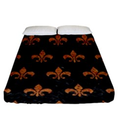 ROYAL1 BLACK MARBLE & RUSTED METAL Fitted Sheet (King Size)