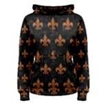 ROYAL1 BLACK MARBLE & RUSTED METAL Women s Pullover Hoodie