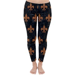 ROYAL1 BLACK MARBLE & RUSTED METAL Classic Winter Leggings