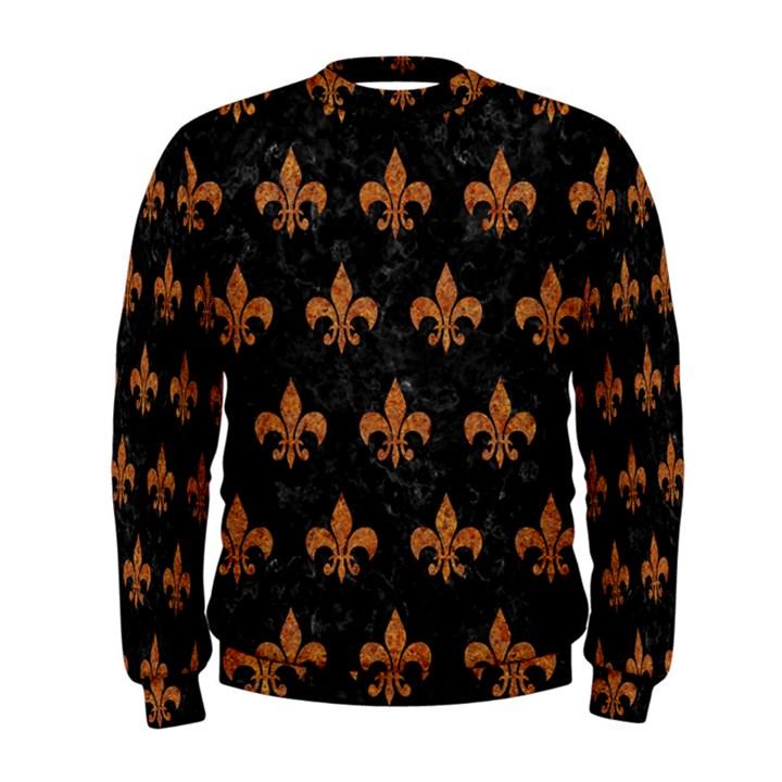ROYAL1 BLACK MARBLE & RUSTED METAL Men s Sweatshirt