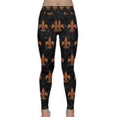 ROYAL1 BLACK MARBLE & RUSTED METAL Classic Yoga Leggings