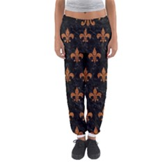 ROYAL1 BLACK MARBLE & RUSTED METAL Women s Jogger Sweatpants