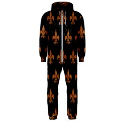 ROYAL1 BLACK MARBLE & RUSTED METAL Hooded Jumpsuit (Men)
