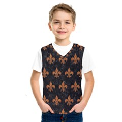 ROYAL1 BLACK MARBLE & RUSTED METAL Kids  SportsWear
