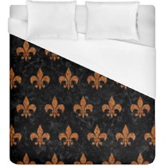 ROYAL1 BLACK MARBLE & RUSTED METAL Duvet Cover (King Size)