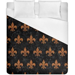 ROYAL1 BLACK MARBLE & RUSTED METAL Duvet Cover (California King Size)