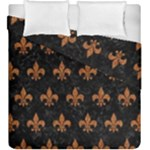 ROYAL1 BLACK MARBLE & RUSTED METAL Duvet Cover Double Side (King Size)