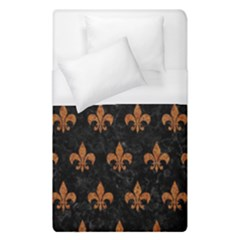 ROYAL1 BLACK MARBLE & RUSTED METAL Duvet Cover (Single Size)