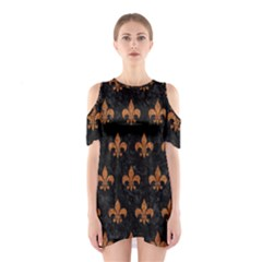 ROYAL1 BLACK MARBLE & RUSTED METAL Shoulder Cutout One Piece
