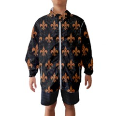 ROYAL1 BLACK MARBLE & RUSTED METAL Wind Breaker (Kids)