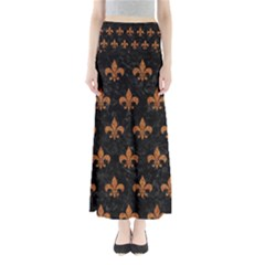 ROYAL1 BLACK MARBLE & RUSTED METAL Full Length Maxi Skirt