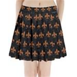 ROYAL1 BLACK MARBLE & RUSTED METAL Pleated Mini Skirt