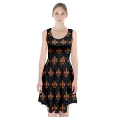 ROYAL1 BLACK MARBLE & RUSTED METAL Racerback Midi Dress