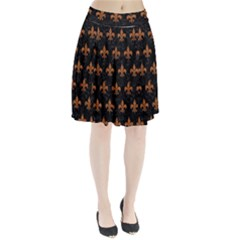 ROYAL1 BLACK MARBLE & RUSTED METAL Pleated Skirt