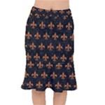 ROYAL1 BLACK MARBLE & RUSTED METAL Mermaid Skirt
