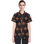 ROYAL1 BLACK MARBLE & RUSTED METAL Women s Short Sleeve Shirt