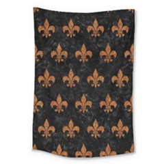ROYAL1 BLACK MARBLE & RUSTED METAL Large Tapestry