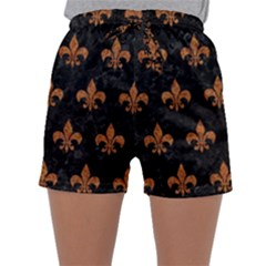 ROYAL1 BLACK MARBLE & RUSTED METAL Sleepwear Shorts