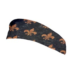 ROYAL1 BLACK MARBLE & RUSTED METAL Stretchable Headband